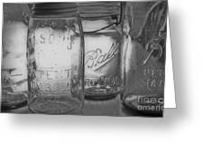 Mason Jar 1858  Greeting Card