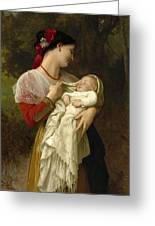 Maternal Admiration Greeting Card