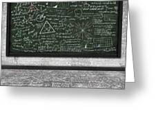 Maths Formula On Chalkboard Greeting Card