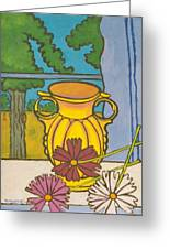 Mccoy Vase With Cosmos Greeting Card