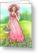Meadow Maid Greeting Card