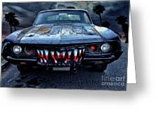 Mean Streets Of Belmont Heights Greeting Card