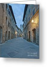 Medieval Street Greeting Card by Rob Tilley