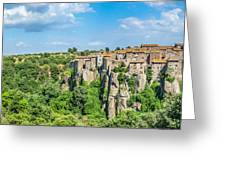 Medieval Town Of Vitorchiano In Lazio, Italy Greeting Card