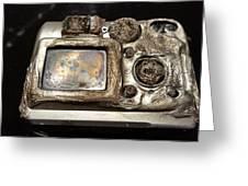 Melted Camera Greeting Card