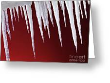 Melting Icicles Greeting Card
