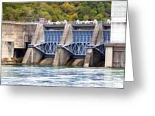 Melton Hill Dam Greeting Card