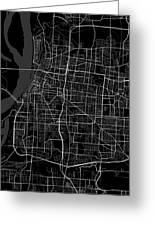Memphis Tennessee Usa Dark Map Greeting Card