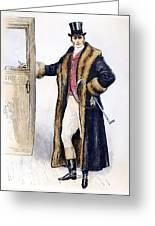Mens Fashion, 1894 Greeting Card
