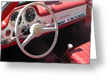 Mercedes 300sl Dashboard Greeting Card