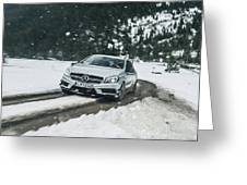 Mercedes Benz A45 Amg Snow Greeting Card