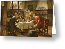 Merry Company In A Dutch Interior Greeting Card