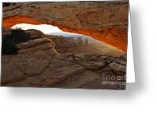 Mesa Arch Sunrise - D003097 Greeting Card