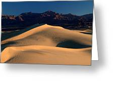 Mesquite Sand Dunes In Death Valley National Park At Sunrise Greeting Card