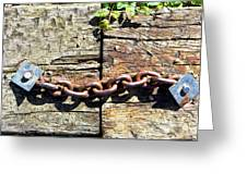 Metal Chain Greeting Card