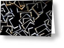 Metal Profile Channel In Packs At The Warehouse Of Metal Products Greeting Card