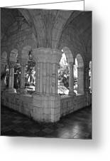 Miami Monastery In Black And White Greeting Card