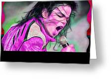 Michael Jackson Collection Greeting Card
