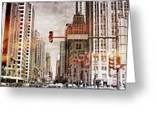 Michigan Ave - Chicago  Greeting Card