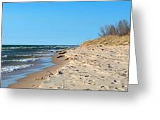 Michigan Beach Greeting Card