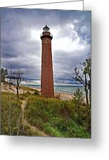 Michigan Lighthouse Greeting Card