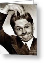 Mickey Rooney, Vintage Actor Greeting Card