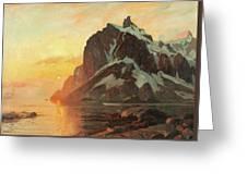 Midnattsol Lofoten Greeting Card