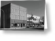 Miles City, Montana - Downtown 2 Bw Greeting Card
