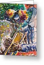 Miles Davis Jazz Greeting Card