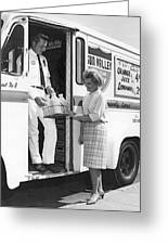 Milkman Home Delivery Greeting Card