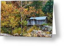 Mill In The Fall Greeting Card