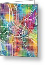 Minneapolis Minnesota City Map Greeting Card