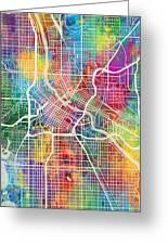 Minneapolis Minnesota City Map Greeting Card