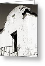 Mission Stucco Building Greeting Card