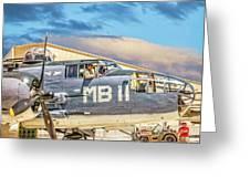 Marine Mitchell B-25 Pbj  Greeting Card