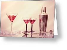 Mixing Cocktails Greeting Card