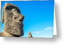 Moai Closeup Greeting Card