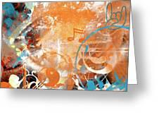 Modern Art Beyond Control Greeting Card