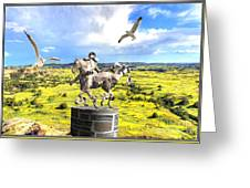 Modern Horse Statue Greeting Card