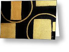 Modern Shapes Gold Greeting Card