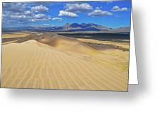 Mojave Kelso Dunes Landscape Greeting Card
