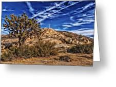 Mojave Memorial Cross And War Memorial Greeting Card
