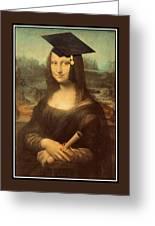 Mona Lisa  Graduation Day Greeting Card
