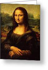 Mona Lisa Portrait Greeting Card