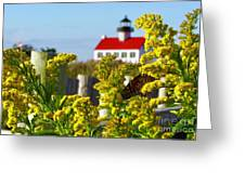Monarch At East Point Light Greeting Card