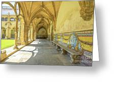 Monastery Of Santa Cruz Greeting Card