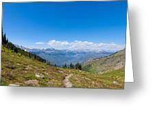Montana-glacier National Park-highline Trail Greeting Card