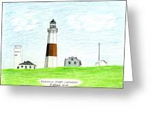 Montauk Point Lighthouse Greeting Card by Frederic Kohli