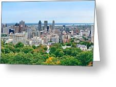 Montreal Day View Panorama Greeting Card