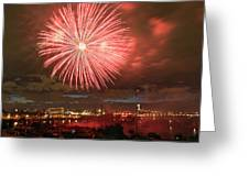 Montreal Fireworks Celebration  Greeting Card
